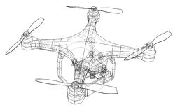 Qadrocopter or drone. Vector Royalty Free Stock Photography
