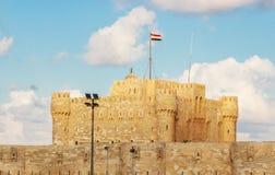 Qaetbay城堡亚历山大历史视图  免版税库存照片