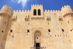 qaetbay alexandria slott Royaltyfri Bild