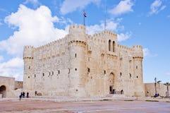 qaetbay alexandria slott Royaltyfri Fotografi