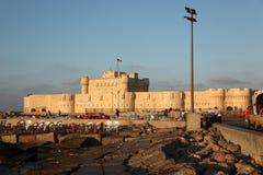 Qaetbay Schloss Alexandria Stockfotos