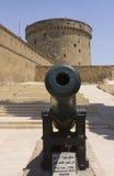 Qaitbay城堡的大炮  免版税图库摄影