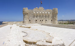 Qaitbay城堡  免版税图库摄影
