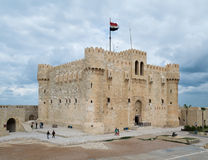 Qaitbay Castle, Αλεξάνδρεια, Αίγυπτος Στοκ Φωτογραφίες