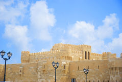 The Qaitbay Citadel, the famous landmark in Alexandria located by the Mediterranean Sea. This area is believed that it used to be Royalty Free Stock Photos