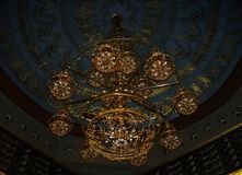 Mosque chandelier. Inside a mosque in alexandria egypt royalty free stock image