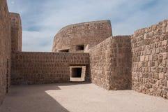 Qal'At今日巴林堡垒,巴林的海岛 免版税库存照片