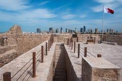 Qal'At Al Bahrain Fort, ö av Bahrain Fotografering för Bildbyråer