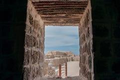 Qal'At Al Bahrain Fort, ö av Bahrain Royaltyfria Bilder