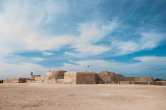 Qal'At Al Bahrain Fort, ö av Bahrain Royaltyfri Fotografi