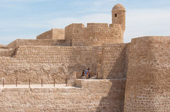 Qal'At Al Bahrain Fort, ö av Bahrain Arkivbilder
