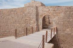 Qal'At Al Bahrain Fort, ö av Bahrain Arkivfoton