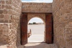 Qal'At Al Bahrain Fort, ö av Bahrain Arkivfoto
