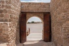 Qal'At Al Bahrajn fort, wyspa Bahrajn zdjęcie stock