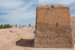 Qal'At Al Bahrajn fort, wyspa Bahrajn zdjęcia royalty free