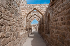 Qal At Al Bahrain Fort, Island Of Bahrain Royalty Free Stock Image