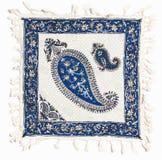 Qalamkar - calicot estampé, travail manuel persan. Photographie stock libre de droits
