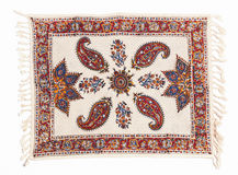 Qalamkar - printed calico, persian handicraft. Royalty Free Stock Photo