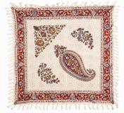 Qalamkar - printed calico, persian handicraft. Stock Image
