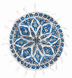 Qalamkar - printed calico, persian handicraft. Royalty Free Stock Photos