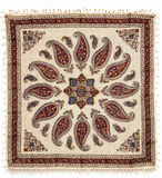 Qalamkar - printed calico, traditional handicraft. Royalty Free Stock Image