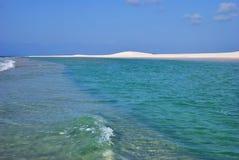 Qalansiya, die Lagune Detwah, Socotrainsel yemen stockfoto