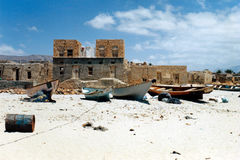 Qalansiyah. Soqotra island in Yemen, Indian Ocean Royalty Free Stock Photography