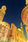 Qalawun复合体, El Moez街道在晚上 免版税库存图片