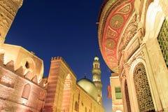 Qalawun复合体, El Moez街道在晚上 免版税库存照片