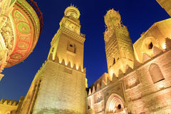 Qalawun complex,El Moez street at night. Royalty Free Stock Images