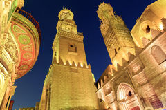 Qalawun complex,El Moez street at night. Stock Image