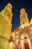 Qalawun complex,El Moez street at night. Stock Images