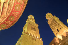 Qalawun complex,El Moez street at night. Stock Images