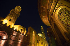 Qalawun complex at night, islamic Cairo, Egypt Stock Photo