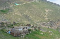 Qalayxudat , Azerbaijan, a remote mountain village in the Greater Caucasus range