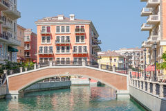 Qanat Quartier at The Pearl, Qatar Royalty Free Stock Images