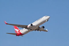 Qantas Боинг 737 VH VZX Стоковое Фото
