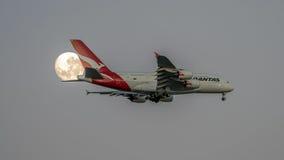 Qantas a-380 Royalty-vrije Stock Afbeeldingen