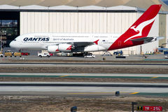 Qantas Aerobus A380 Fotografia Royalty Free