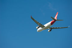 Qantas Airbus A330 in flight Stock Photography