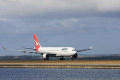 Qantas Airbus A330 jet airliner Stock Image