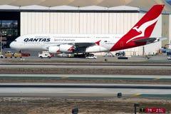 Qantas Airbus A380 Fotografia Stock Libera da Diritti