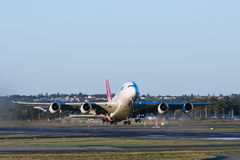 Qantas Airbus A380 airliner taking off Royalty Free Stock Image
