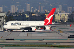 Qantas Airbus A380-800 airplane Stock Photography