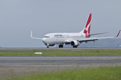 QANTAS Airbus on runway. A QANTAS airbus on the runway, preparing for takeoff Stock Photography
