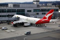 Qantas Airlines Royalty Free Stock Photography