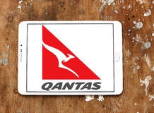 Qantas airways logo Stock Photography