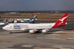 Qantas Boeing 747 Arkivbilder