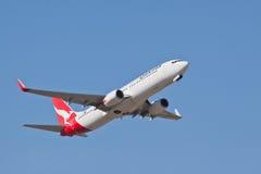 Qantas Boeing 737 VH VZX Arkivfoto
