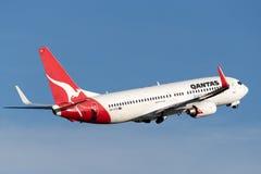 Qantas Boeing 737-800 aerei che decollano da Sydney Airport Fotografia Stock Libera da Diritti